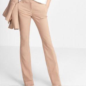 EXPRESS Blush Pink Nude Columnist Bootcut Pants